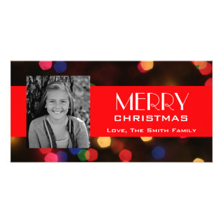 Christmas Lights Personalized Photo Card