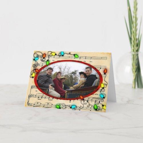 Christmas Lights Photo Card