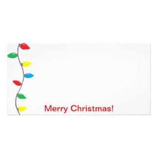 """""""Christmas Lights"""" Photo Card"""