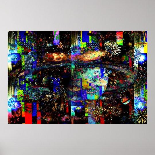 Christmas Lights Photo Manipulation 100_3207c Poster