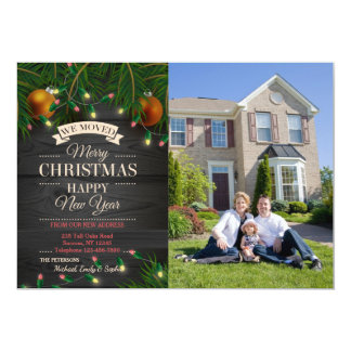 Christmas Lights Photo Moving Announcement