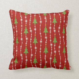 Christmas lights pillow