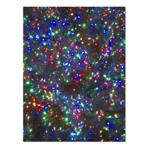 Christmas lights, Portland, Oregon Postcard