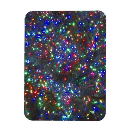 Christmas lights, Portland, Oregon Rectangular Photo Magnet