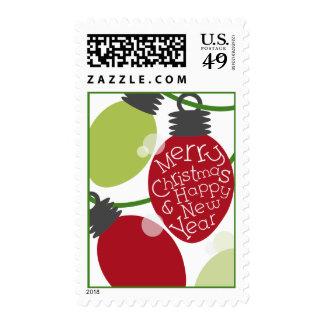 Christmas Lights Postage