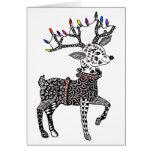 Christmas Lights Reindeer Card