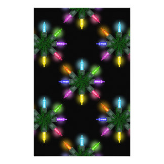 Christmas Lights Scrapbooking Papers Stationery