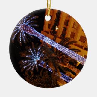 Christmas lights Sicily. Ceramic Ornament