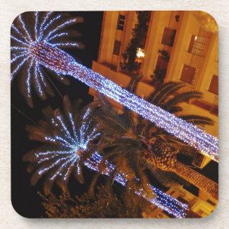 Christmas lights Sicily Beverage Coasters