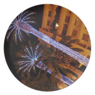 Christmas lights Sicily Melamine Plate