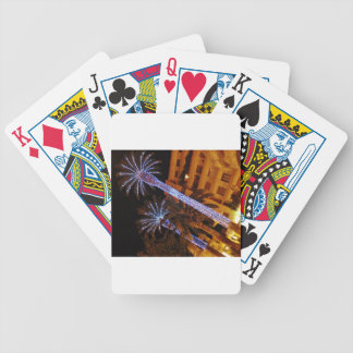 Christmas lights Sicily. Bicycle Poker Cards
