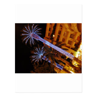 Christmas lights Sicily. Postcard