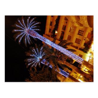 Christmas lights Sicily Postcard