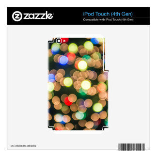 christmas lights skins for iPod touch 4G