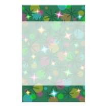Christmas Lights stationery header and footer