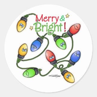 Christmas lights sticker