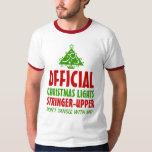Christmas Lights Stringer Upper T-shirt