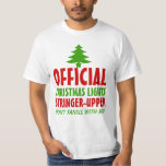 Christmas Lights Stringer Upper T Shirt