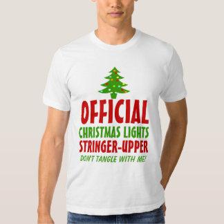 Christmas Lights Stringer Upper Tee Shirt