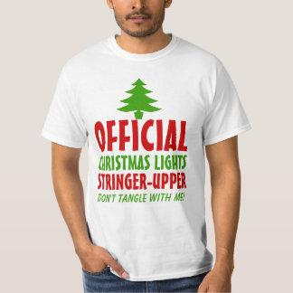 Christmas Lights Stringer Upper Tee Shirts