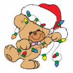 Christmas Lights Teddy Bear Acrylic Cut Out