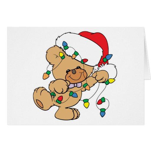 Christmas Lights Teddy Bear Cards