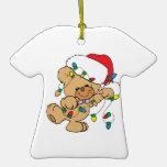 Christmas Lights Teddy Bear Christmas Ornament
