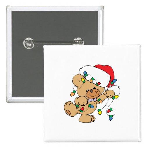 Christmas Lights Teddy Bear Pins