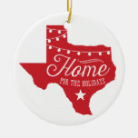 Christmas Lights Texas Home Tree Ornament