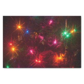Christmas lights tissue paper