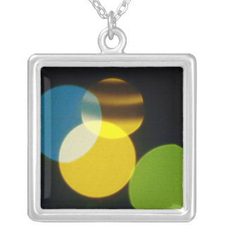 Christmas Lights Yellow Green Blue Necklaces