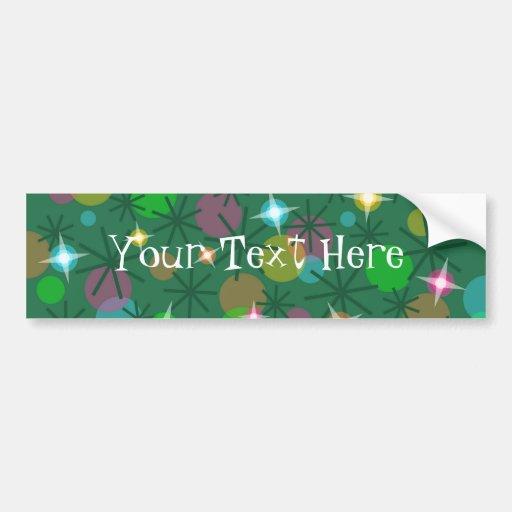 Christmas Lights 'Your Text' bumper sticker