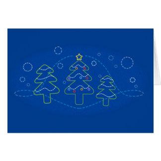 Christmas lines card