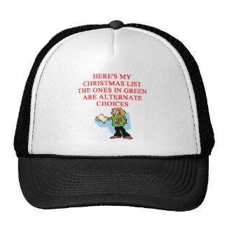 christmas list joke hat