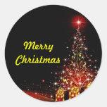 Christmas Lit Night Wonderland Red Stickers