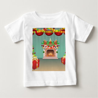 Christmas Living Room Baby T-Shirt