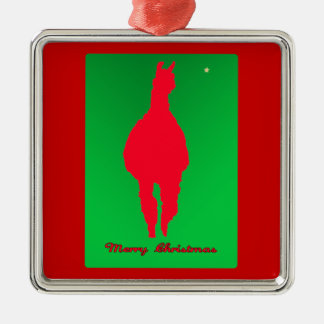 Christmas Llama Llama In Red w Green - Star Christmas Tree Ornaments