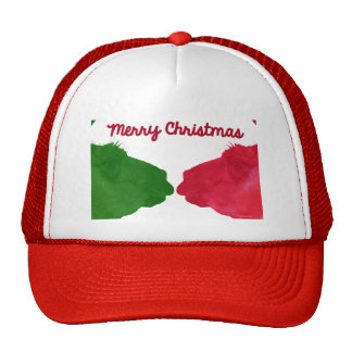 Christmas Llama Red Christmas Llama Green Trucker Hat