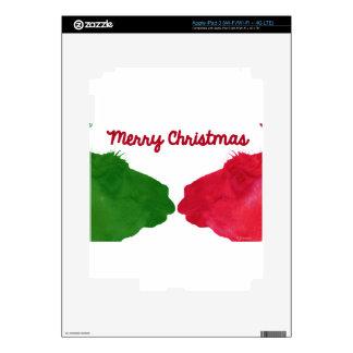 Christmas Llama Red Christmas Llama Green Decals For iPad 3