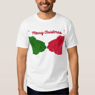 Christmas Llama Red Christmas Llama Green T Shirt