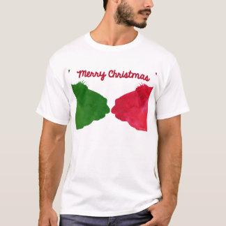 Christmas Llama Red Christmas Llama Green T-Shirt