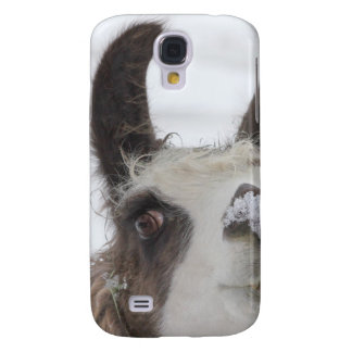 Christmas Llama with Snow on Nose for the Holidays Samsung Galaxy S4 Case