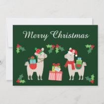 Christmas Llamas Holiday Card