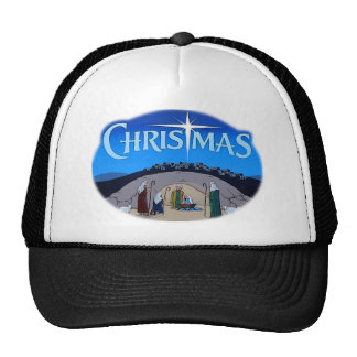 Christmas logo feathered.png trucker hat