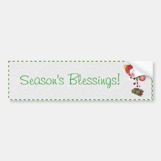 Christmas Lollipop Bumper Sticker