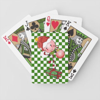Christmas Lollipop Bicycle Playing Cards