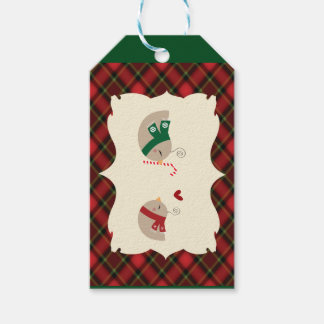 Christmas Love Birds Gift Tags