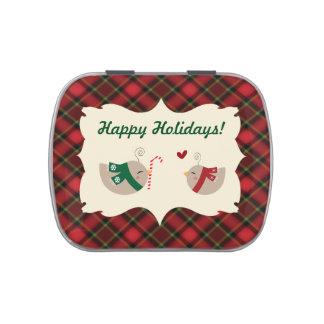 Christmas Love Birds Jelly Belly Candy Tin