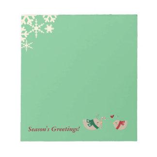 Christmas Love Birds Notepad