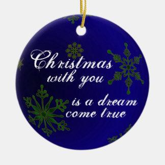 Christmas Love Blue  Ornament